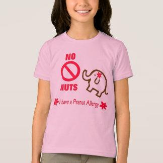 Elefante lindo NINGUNA camiseta NUTS de los chicas