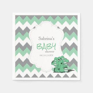 Elefante lindo tonto verde divertido del bebé de servilletas de papel