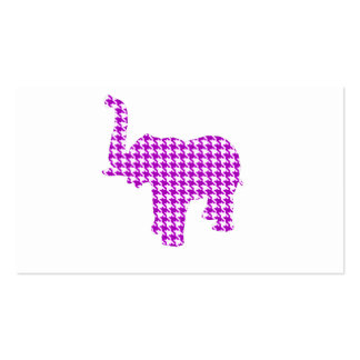 Elefante púrpura de Houndstooth Tarjetas De Visita