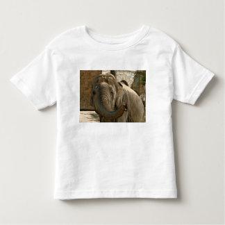 Elefante que señala adelante con el tronco camiseta de bebé