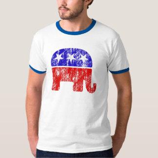 Elefante republicano descolorado camiseta