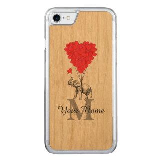 Elefante romántico divertido funda para iPhone 7 de carved