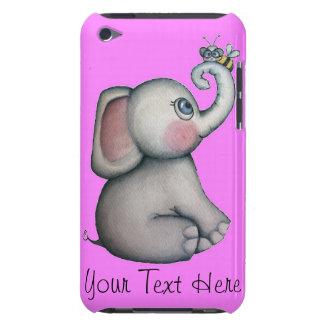 Elefante rosado con el caso del tacto de iPod de Carcasa Para iPod