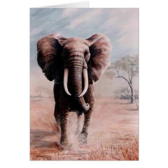 Elefante Tarjeta De Felicitación
