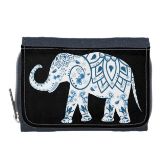 Elefante tribal del monedero de la moneda de la