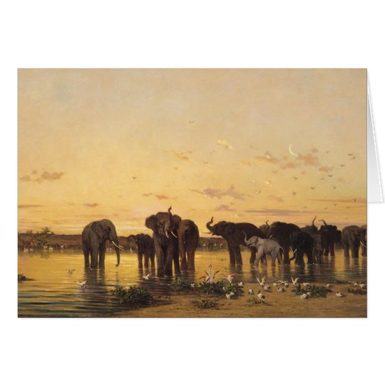 Elefantes africanos tarjeta de felicitación