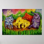 Elefantes de risa. Cartel grande Poster