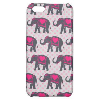 Elefantes de rosas fuertes grises bonitos en