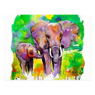 Elefantes del safari postal