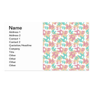 Elefantes en colores pastel lindos plantilla de tarjeta personal