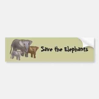 Elefantes en las pegatinas para el parachoques pegatina para coche