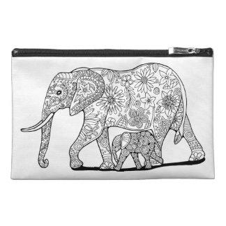 Elefantes florales neceser de viaje