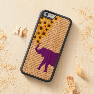Elefantes, girasoles y Jane Eyre Funda De iPhone 6 Bumper Cerezo