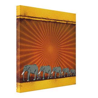 Elefantes Impresion De Lienzo