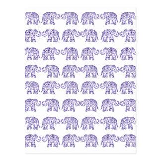Elefantes indios postal