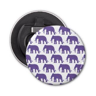 Elefantes púrpuras abrebotellas