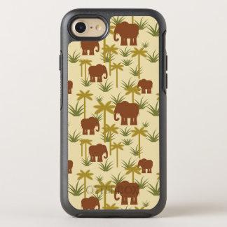 Elefantes y palmas en camuflaje funda OtterBox symmetry para iPhone 8/7