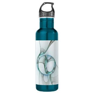 Elegancia abstracta gris de la turquesa azul del botella de agua