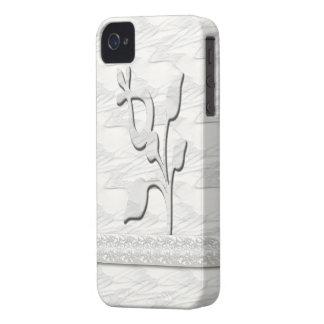 Elegancia blanca #1 Case-Mate iPhone 4 cárcasas