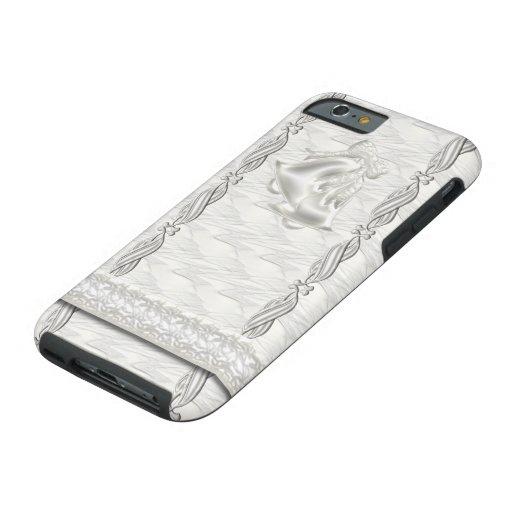 Elegancia blanca #1 funda de iPhone 6 tough