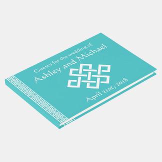 Elegancia china en libro de visitas de la turquesa