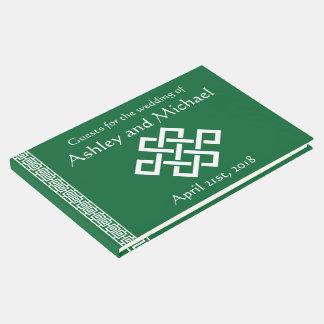 Elegancia china en libro de visitas verde