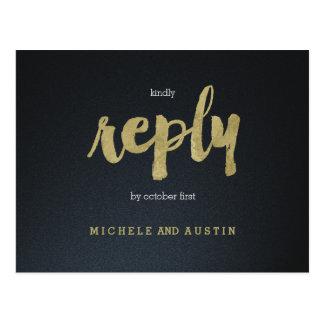 Elegancia clásica - casar la postal de RSVP