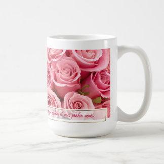 Elegancia color de rosa rosada - personalizar taza de café
