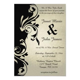 Elegancia del boda del vintage invitación 12,7 x 17,8 cm
