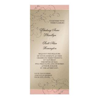 Elegancia del lazo negro, bodas de plata de Champá Invitación