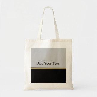 Elegancia del monograma en oro gris negro bolsa tela barata