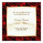 Elegancia del rosa rojo - ducha comunicados personales