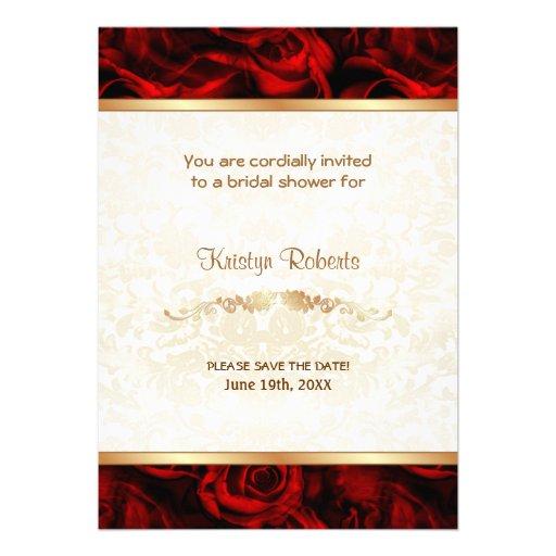 Elegancia del rosa rojo - ducha invitacion personal