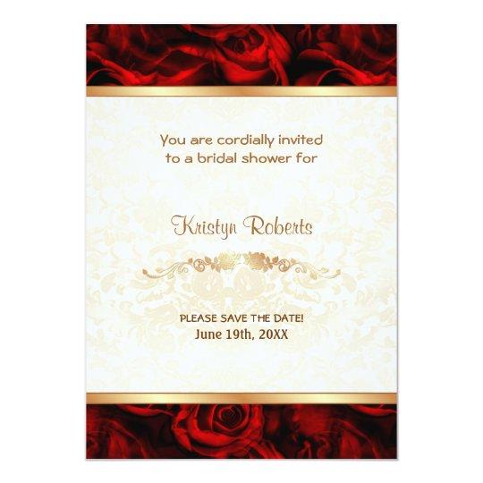 Elegancia del rosa rojo - ducha invitación 12,7 x 17,8 cm