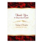 Elegancia del rosa rojo - gracias invitación 12,7 x 17,8 cm