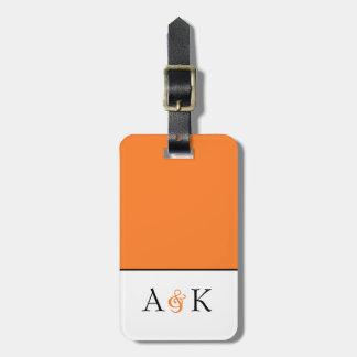"""Elegancia del signo """"&"""": Etiqueta anaranjada del"""