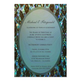 Elegancia moderna del fiesta de retiro el | invitación 12,7 x 17,8 cm