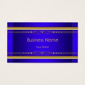 Elegant Blue Reales Classy Gold Amarillo Company Tarjeta De Visita