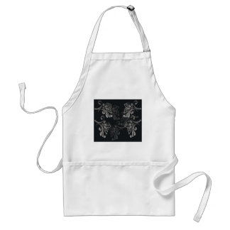 Elegant_patterns_black_flowers_swirls_designs Delantal