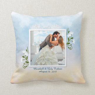 Elegante añada su propia almohada de tiro del boda