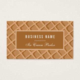 Elegante, cono de la galleta del helado tarjeta de negocios