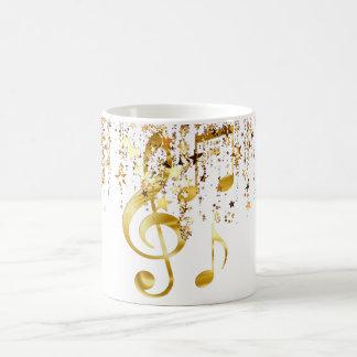 Elegante dominante del violín taza de café