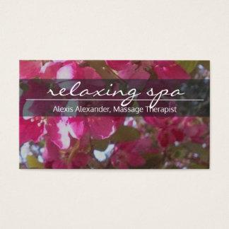 Elegante, floral, tarjeta de visita del balneario