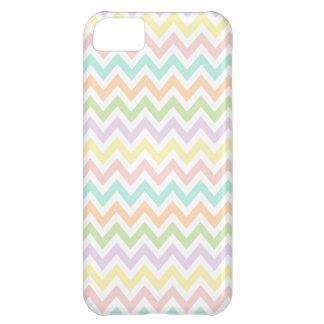 Elegante geometría de chevrón en multicolor carcasa para iPhone 5C
