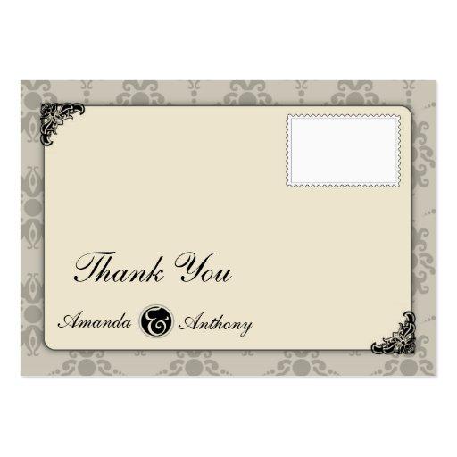 Elegante gracias cardar tarjetas de visita