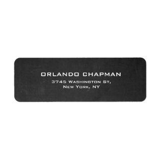 Elegante llano simple de la pizarra gris etiqueta de remitente