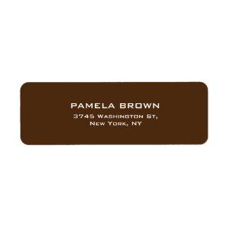 Elegante llano simple del fondo profesional de etiquetas de remite