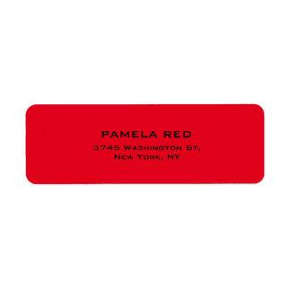 Elegante llano simple del fondo rojo profesional etiqueta de remitente