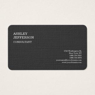 Elegante minimalista de moda gris profesional tarjeta de negocios