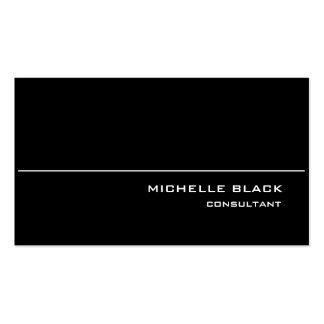 Elegante moderno blanco negro elegante profesional tarjetas de visita